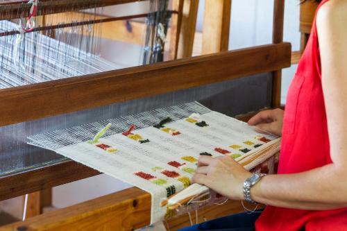 quinta dos trevos artes e oficios tecelagem